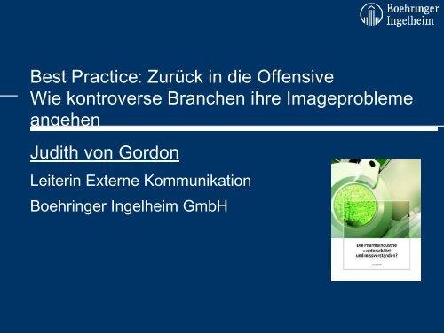 Judith von Gordon - Kommunikationskongress