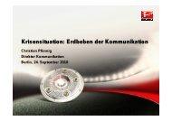 Erdbeben der Kommunikation - Kommunikationskongress