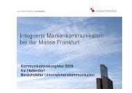 Integrierte Markenkommunikation bei der Messe Frankfurt