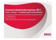 Change – Veränderung kommunizieren - Kommunikationskongress