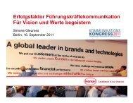 Erfolgsfaktor Führungskräftekommunikation Für Vision und Werte ...