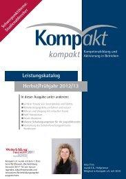 Herbst/Frühjahr 2012/13 Leistungskatalog - Kompakt e.V.