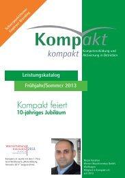 Seminarkatalog 2013.indd - Kompakt e.V.