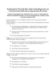 kommentierte übersicht - Institut für Allgemeine und Vergleichende ...