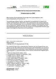 Vorlesungsverzeichnis Sommersemester 2009 - Institut für ...
