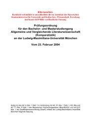 Bachelor-/Master-Prüfungsordnung - Institut für Allgemeine und ...