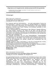 Komparatistik - Institut für Allgemeine und Vergleichende ...