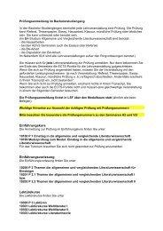 Prüfungsanmeldung BA 09 - Institut für Allgemeine und ...