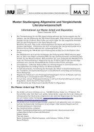 Informationen zur Master-Arbeit - Institut für Allgemeine und ...