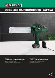 CORDLESS CARTRIDGE GUN PAP 6 A1 - Kompernass