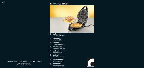 WAFFLE IRON - Kompernass