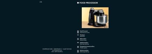 FOOD PROCESSOR - Kompernass