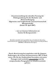 Bachelor-/Master-Prüfungsordnung mit Änderungen vom April 2007