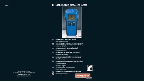 ULTRASONIC DISTANCE METER - Kompernass