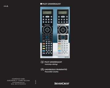 Bedienungsanleitung Universalfernbedienung KH 2157 - Kompernass