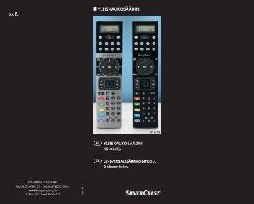 Bedienungsanleitung Universalfernbedienung KH 2156 - Kompernass