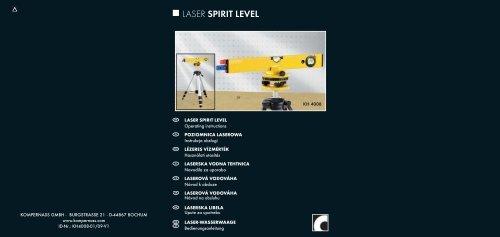 LASER SPIRIT LEVEL - Kompernass