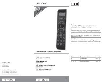 IAN 86342 IAN 86342 - Kompernass