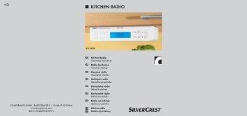 KITCHEN RADIO - Kompernass