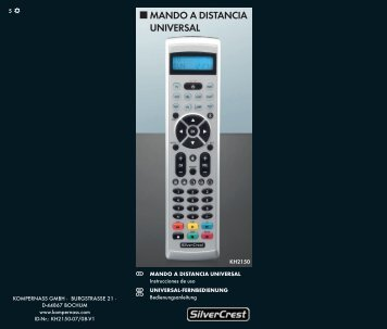 MANDO A DISTANCIA UNIVERSAL - Kompernass