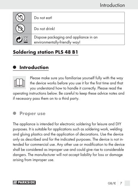 SOLDERING STATION PLS 48 B1 - Kompernass