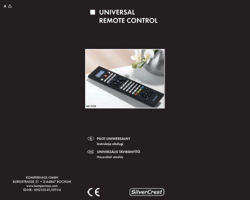 UNIVERSAL REMOTE CONTROL - Kompernass