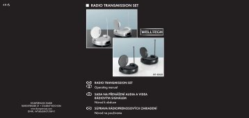 RADIO TRANSMISSION SET - Kompernass