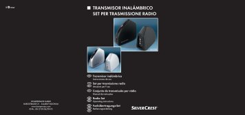 transmisor inalámbrico set per trasmissione radio - Kompernass