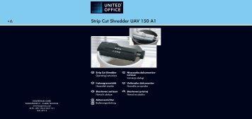 Strip Cut Shredder UAV 150 A1 - Kompernass