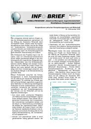 INBAS Info-Brief 3/2005 - Kompetenzagenturen
