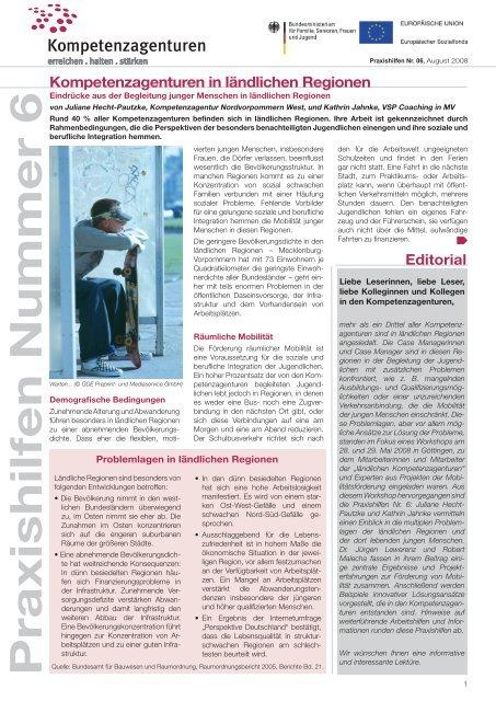 Praxishilfe Nr. 6 - Kompetenzagenturen