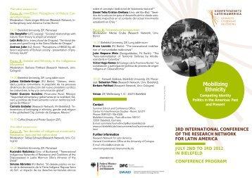 folleto del congreso - Kompetenznetz Lateinamerika