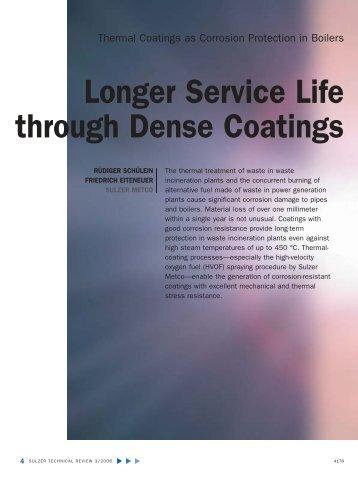 Longer Service Life through Dense Coatings