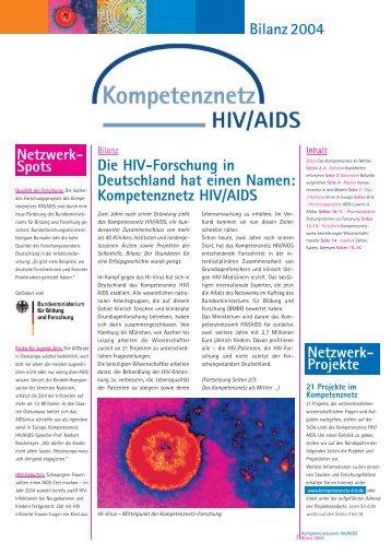 Bilanz 2004 Die HIV-Forschung in Deutschland hat einen Namen ...