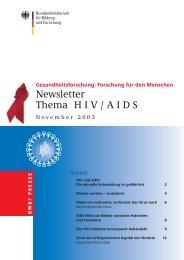 RZ News HIV/Aids 10/03 - Kompetenznetz HIV/AIDS