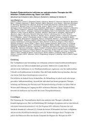 Entwurf für die Aktualisierung der - Kompetenznetz HIV/AIDS