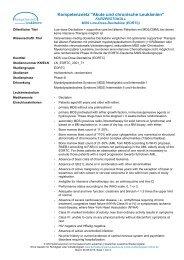 Kurzprotokoll - Kompetenznetz Akute und Chronische Leukämie