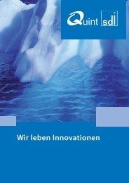 Wir leben Innovationen - Quint sdi GmbH