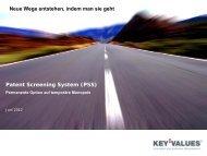 KEY VALUES_Patent Screening System (PSS).pdf - Kompetenznetz ...