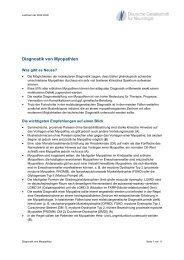 Diagnostik von Myopathien - Kompetenznetz Parkinson