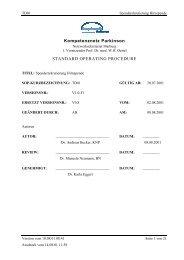Information- und Aufklärungsbogen zum - Kompetenznetz Parkinson