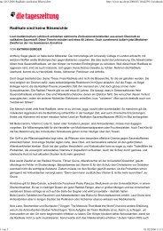 taz 10.3.2006 Radikale sind keine Bösewichte - Kompetenznetz ...