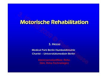 Rehabilitation_S.Hesse_Motorische Rehabilition - Kompetenznetz ...