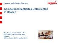 Kompetenzorientiertes Unterrichten in Hessen - Kompetenzzentrum IT