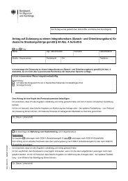 Antrag auf Zulassung zu einem Integrationskurs (Sprach- und ...