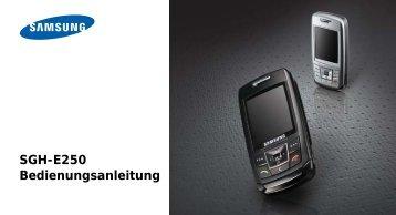 SGH-E250 Bedienungsanleitung - Komplettmobil.de