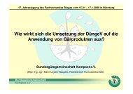 Flüssige Gärprodukte - Bundesgütegemeinschaft Kompost e.V.