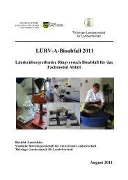 LÜRV-A-Bioabfall 2011 - Bundesgütegemeinschaft Kompost e.V.