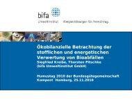 Ökoeffiziente Verwertung von Bioabfällen