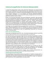 Untersuchungspflichten für tierische Nebenprodukte